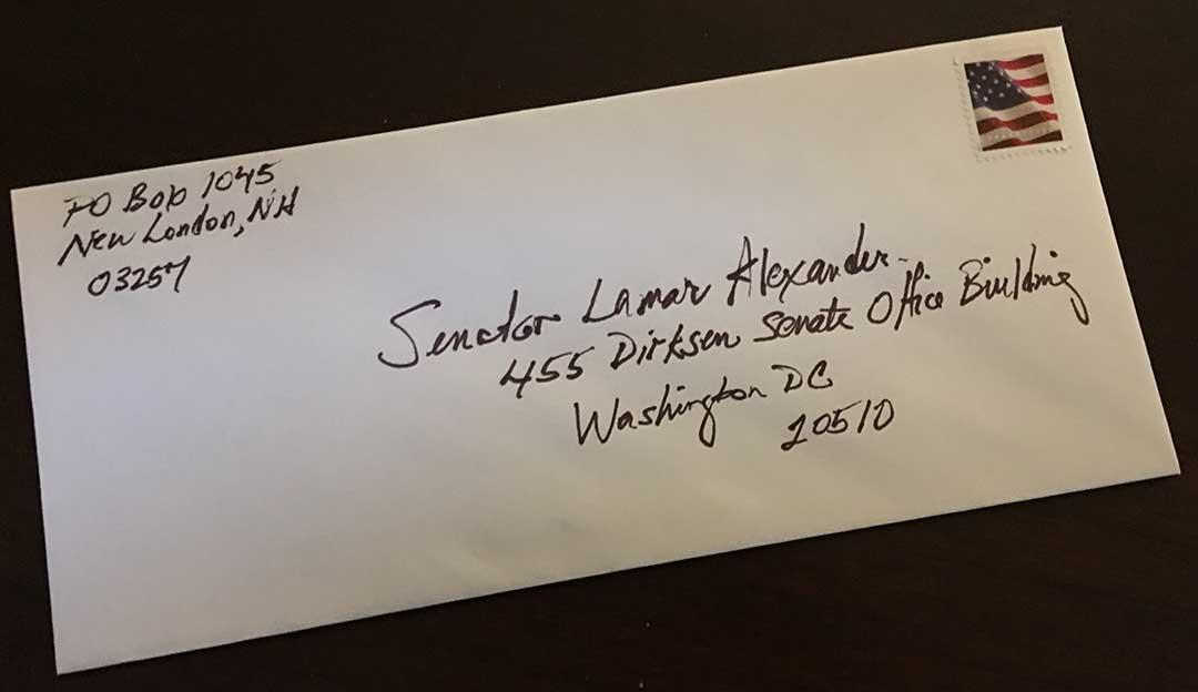 Dr. Gabow Writes a Letter to Senator Alexander